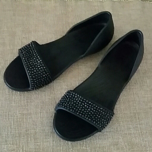 Womens Crocslina Embellish Dorsayflat Blk/MLTI Ballet Flats Crocs 0iMcFeWp